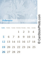 calendar 2012, February - Page of 2012 February month wall...