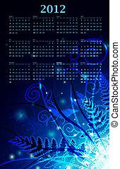 2012 magic night wall calendar