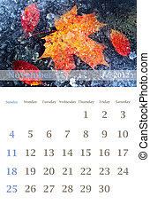calendar 2012, November - Page of 2012 November month wall...