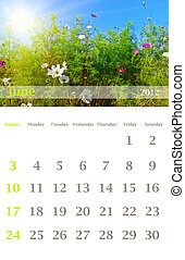calendar 2012, June - Page of 2012 June month wall calendar...
