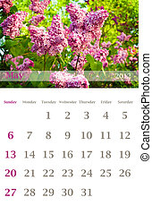 calendar 2012, May - Page of 2012 May month wall calendar...