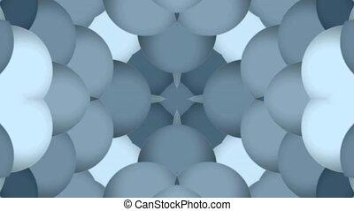 plastic balls shaped flower pattern