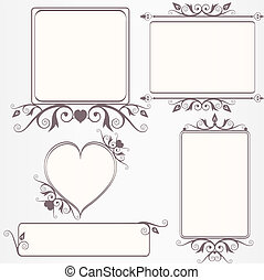 Ornate vintage frame set with decorative scrolls