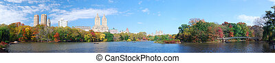 New York City Central Park panorama in Autumn