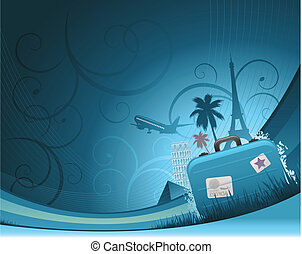 travel background - abstract travel background