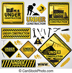 under construction element icon sign