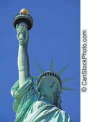 Statue of Liberty closeup  in New York City Manhattan