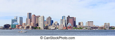 Boston panorama - Boston downtown skyline in the morning...