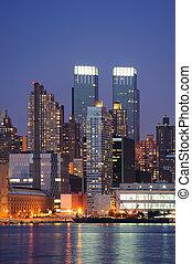 Urban modern architecture in New York City midtown Manhattan...