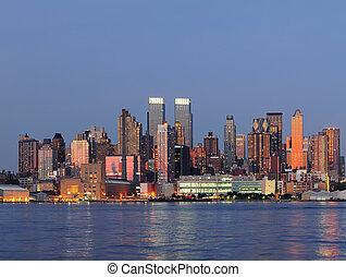 New York City Manhattan over Hudson River - Hudson River...