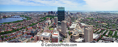 Boston skyline arial panorama - Boston skyline aerial view...