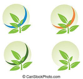 logo elements set environmental