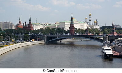 Grand Kremlin Palace and Moskva river