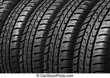 coche, neumáticos