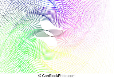 Creative Lines - Creative and Colorful Lines Abstract as Art...