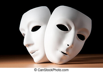 Masks with theatre concept