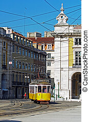 Portugal City Transport tram traffic landscape tourists