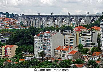 Portugal Lisbon ancient arch landscape nature history