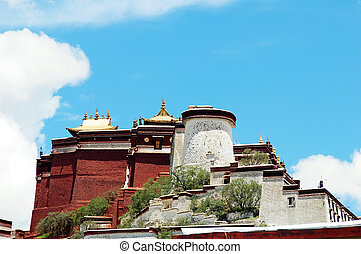 Potala Palace - Landmark of the famous Potala Palace in...