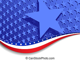 Stars and Stripes Landscape - A large patriotic background...