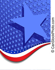 Stars and Stripes Portrait Background - A large patriotic...