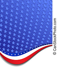 Stars & Stripes Portrait Background - A large patriotic...