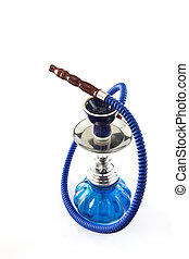 Shisha - Arabian shisha pipe on white background