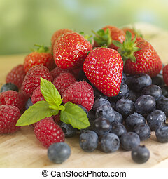 verão, frutas