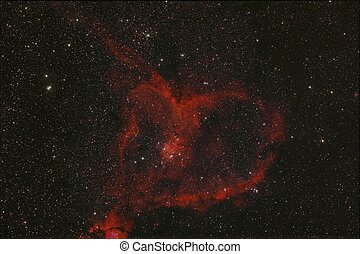 The Heart Nebula IC 1805 in the constellation Cassiopeia