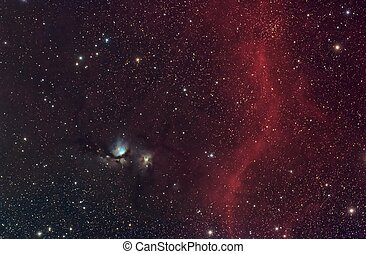 M78 and Barnards Loop - M78, a reflection nebula in the...