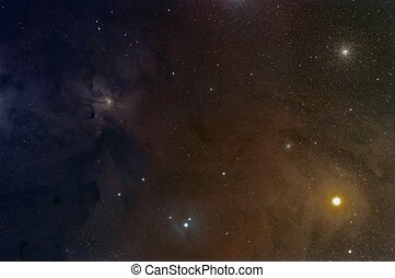 Rho Ophiuchi Cloud Complex, a dark area of gas and dust