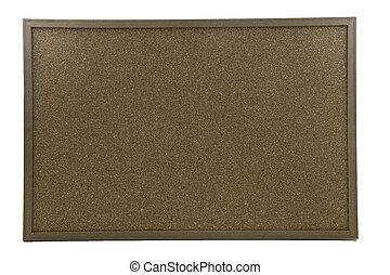 A cork board