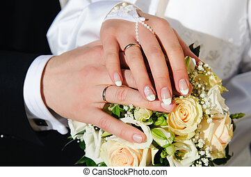 Wedding Hands - Bride & Groom, Hand married