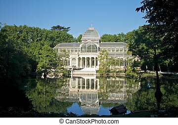Madrid crystal palace - ancient Crystal palace in El Retiro...