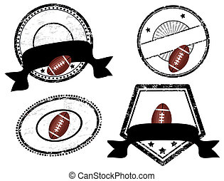 empty stamps, american football theme - Abstract empty...