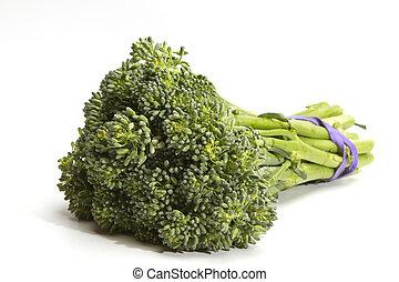 brocoli - bunch of  fresh biological brocoli
