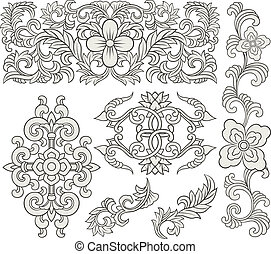 decorative floral scroll ornament