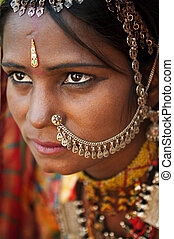 Indian woman - Portrait of a Rajasthan woman