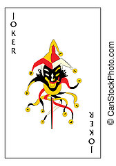 Joker playing card - Jumping jack joker playing card