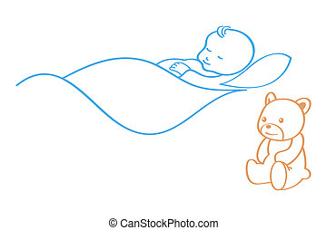 Baby sleeping Clip Art Vector Graphics. 5,034 Baby sleeping EPS ...