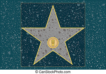 Radio star - Hollywood walk of fame: broadcast radio star