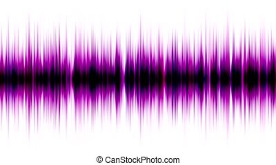 purple pulse ray,band,frequency spectrum,FM,heart...