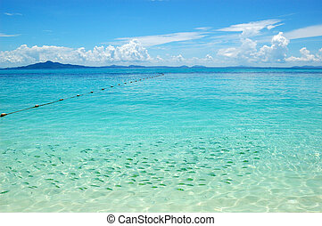 Clear turquoise water of Indian Ocean near Phi Phi island,...