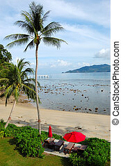 Patong beach at the luxury hotel,  Phuket, Thailand