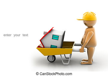 Construction worker - 3D multi use construction worker with...