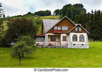 House - Traditional house on a meadow in the mountains