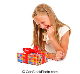 Girl with gift 3