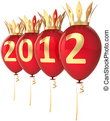 2012 Happy New Year balloons