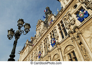 Paris: Hotel de Ville - Hotel de Ville City Hall of Paris