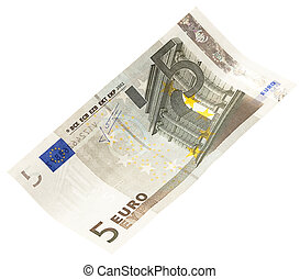 5 euro isolated on a white background
